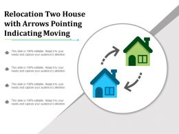 Relocation Two House With Arrows Pointing Indicating Moving