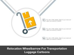 Relocation Wheelbarrow For Transportation Luggage Cartoons