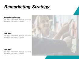 Remarketing Strategy Ppt Powerpoint Presentation Infographics Inspiration Cpb