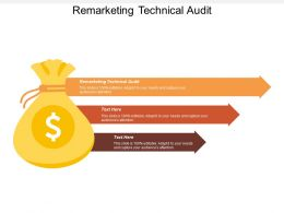 Remarketing Technical Audit Ppt Powerpoint Presentation Infographics Background Designs Cpb