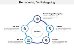 Remarketing Vs Retargeting Ppt Powerpoint Presentation Styles Example Introduction Cpb