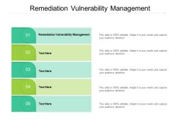 Remediation Vulnerability Management Ppt Powerpoint Presentation File Slide Cpb