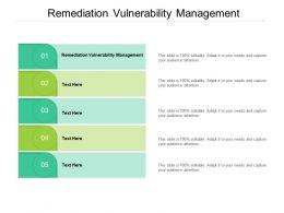 Remediation Vulnerability Management Ppt Powerpoint Presentation File Slide Cpb