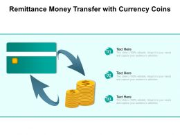 Remittance Money Transfer With Currency Coins