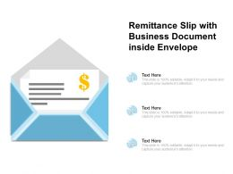 Remittance Slip With Business Document Inside Envelope