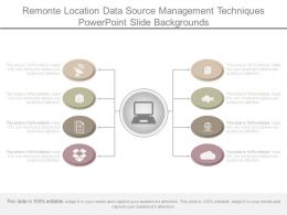 Remonte Location Data Source Management Techniques Powerpoint Slide Backgrounds