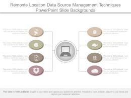 Remonte Location Data Source Management Techniques Powerpoint Slide Backgrounds