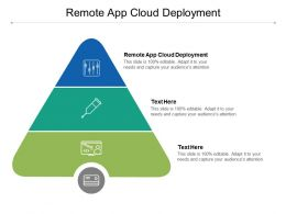 Remote App Cloud Deployment Ppt Powerpoint Presentation Pictures Gallery Cpb
