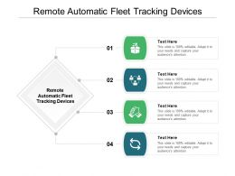 Remote Automatic Fleet Tracking Devices Ppt Powerpoint Presentation Professional Design Templates Cpb