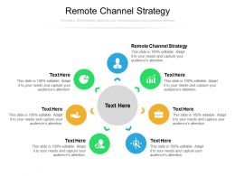 Remote Channel Strategy Ppt Powerpoint Presentation Gallery Display Cpb