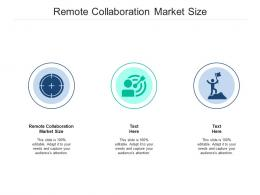 Remote Collaboration Market Size Ppt Powerpoint Presentation Infographic Template Styles Cpb