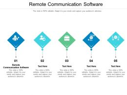 Remote Communication Software Ppt Powerpoint Presentation Outline Visual Aids Cpb