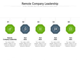Remote Company Leadership Ppt Powerpoint Presentation Visual Aids Ideas Cpb