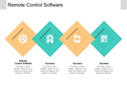 Remote Control Software Ppt Powerpoint Presentation Inspiration Skills Cpb