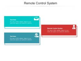 Remote Control System Ppt Powerpoint Presentation Layouts Graphic Images Cpb