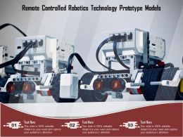 Remote Controlled Robotics Technology Prototype Models