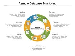 Remote Database Monitoring Ppt Powerpoint Presentation Infographics Format Ideas Cpb