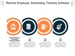 Remote Employee Scheduling Tracking Software Ppt Infographic Demonstration Cpb