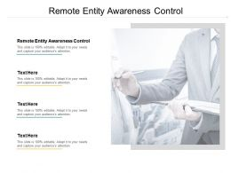 Remote Entity Awareness Control Ppt Powerpoint Presentation Ideas Deck Cpb