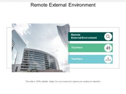 Remote External Environment Ppt Powerpoint Presentation File Microsoft Cpb