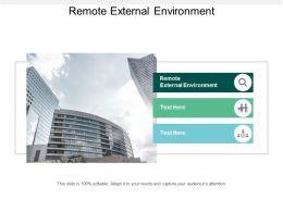 Remote External Environment Ppt Powerpoint Presentation File Microsoft Cpb