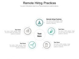 Remote Hiring Practices Ppt Powerpoint Presentation File Background Images Cpb