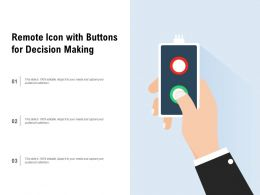 Remote Icon With Buttons For Decision Making