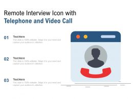 Remote Interview Icon With Telephone And Video Call