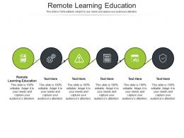 Remote Learning Education Ppt Powerpoint Presentation Infographics Graphics Cpb