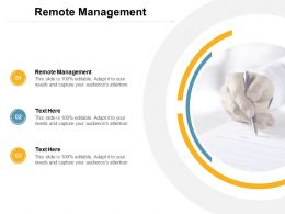Remote Management Ppt Powerpoint Presentation Gallery Icons Cpb