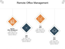Remote Office Management Ppt Powerpoint Presentation Infographics Layout Ideas Cpb