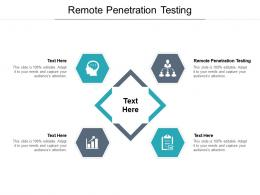 Remote Penetration Testing Ppt Powerpoint Presentation Model Examples Cpb