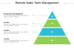 Remote Sales Team Management Ppt Powerpoint Presentation Gallery Infographic Template Cpb
