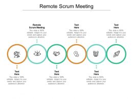 Remote Scrum Meeting Ppt Powerpoint Presentation Inspiration Gallery Cpb