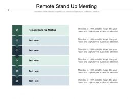 Remote Stand Up Meeting Ppt Powerpoint Presentation Layouts Infographic Template Cpb