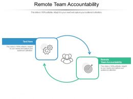 Remote Team Accountability Ppt Powerpoint Presentation Ideas Graphics Download Cpb