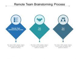 Remote Team Brainstorming Process Ppt Powerpoint Presentation Model Slide Download Cpb