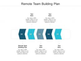Remote Team Building Plan Ppt Powerpoint Presentation Outline Examples Cpb