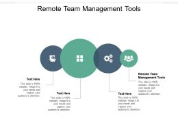 Remote Team Management Tools Ppt Powerpoint Presentation Designs Cpb