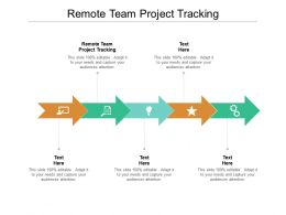 Remote Team Project Tracking Ppt Powerpoint Presentation Outline Objects Cpb