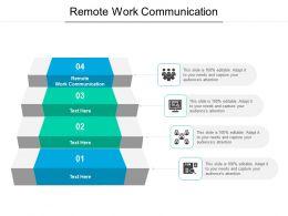 Remote Work Communication Ppt Powerpoint Presentation Slides Visuals Cpb