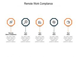 Remote Work Compliance Ppt Powerpoint Presentation Summary Topics Cpb