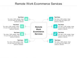 Remote Work Ecommerce Services Ppt Powerpoint Presentation Slides Sample Cpb