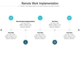 Remote Work Implementation Ppt Powerpoint Presentation Professional Cpb