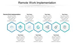 Remote Work Implementation Ppt Powerpoint Presentation Slides Professional Cpb