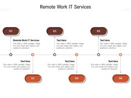 Remote Work It Services Ppt Powerpoint Presentation Slides Format Cpb