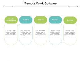 Remote Work Software Ppt Powerpoint Presentation Show Portrait Cpb