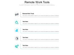 Remote Work Tools Ppt Powerpoint Presentation Professional Graphics Design Cpb
