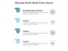 Remote Work Work From Home Ppt Powerpoint Presentation Professional Influencers Cpb