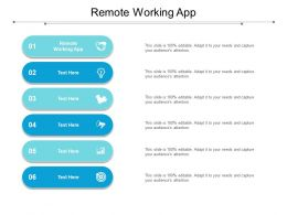Remote Working App Ppt Powerpoint Presentation File Vector Cpb
